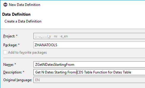 SAP HANA CDS table function definition