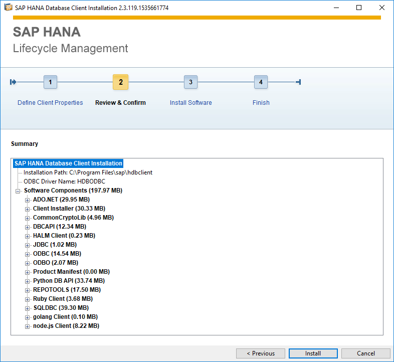 SAP HANA Lifecycle Management as setup wizard