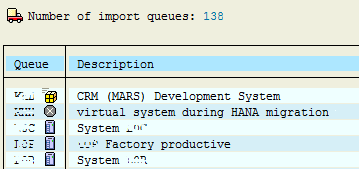 SAP import queues for STMS