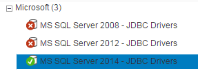installed JDBC drivers on Lumira to connect SQL Server version