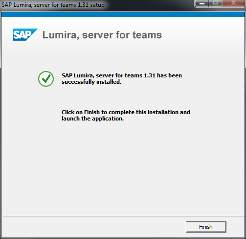 SAP Lumira Edge setup