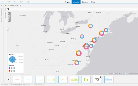 Visualizing data on maps with SAP Lumira