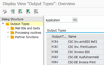 SAP Output message type customization in NACE transaction