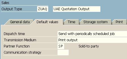 define SAP output type details