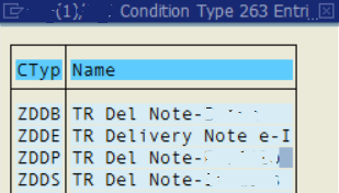 select target SAP output message type