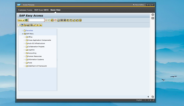SAP Personas MainApp background