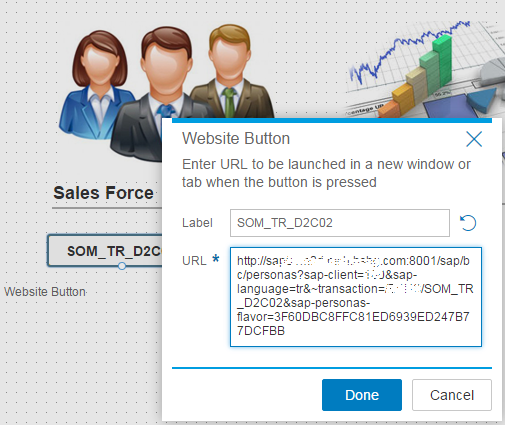 SAP Screen Personas Website button