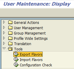 SAP Screen Personas Administration tools menu