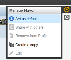 Manage Flavor menu for SAP Personas users
