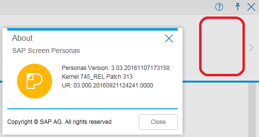 missing Scripting icon on SAP Screen Personas