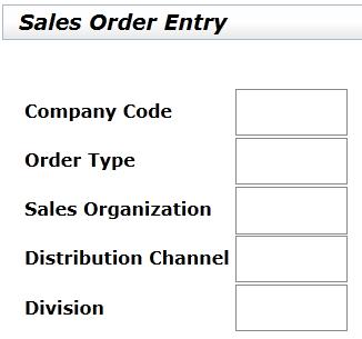 SAP Screen Personas sales order entry screen