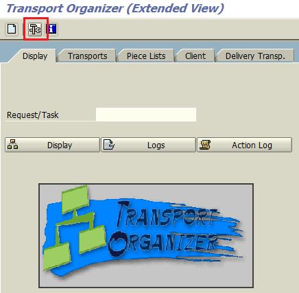 SAP SE01 Transport Organizer