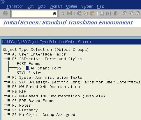 translate SAP Smartform using SE63 transaction