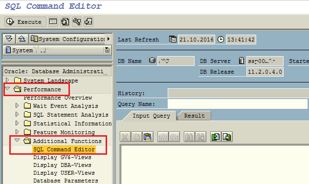 SQL Command Editor tool for ABAP programmer on SAP