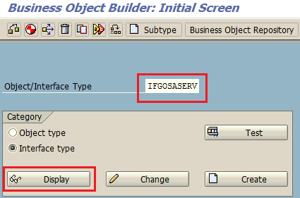 SWO1 tcode SAP Business Object Builder