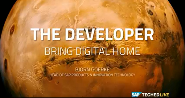 SAP Teched Keynote presentation