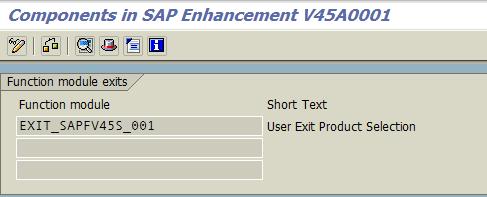 ABAP user exit for SAP order entry transaction