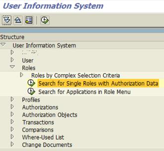 SAP user information system transaction SUIM