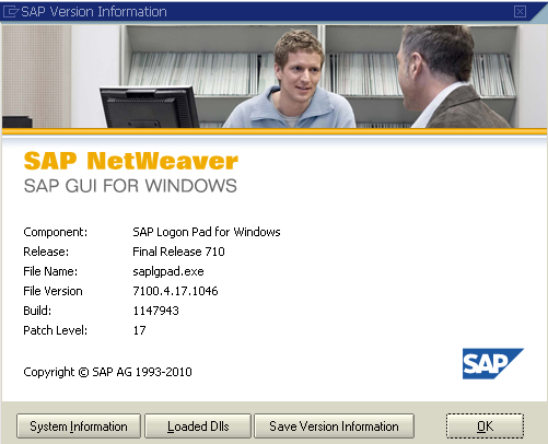 sap-version-information-sap-gui-for-windows