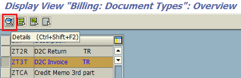 SAP VOFA transaction for billing document types