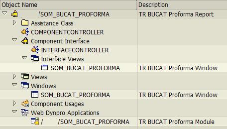 SAP web dynpro objects for ABAP developer