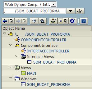 SAP Web Dynpro component objects