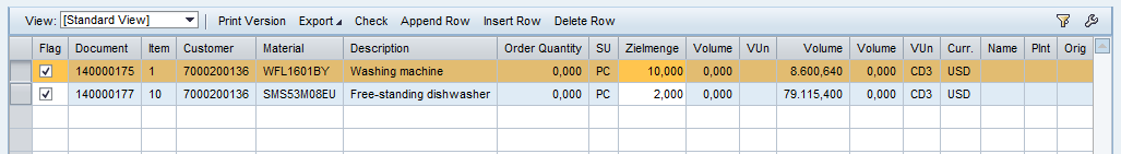 ALV table with default buttons on SAP Web Dynpro component