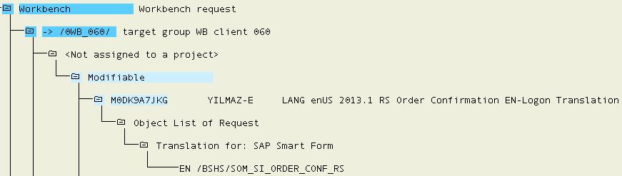 Export SE63 Smartform translation task
