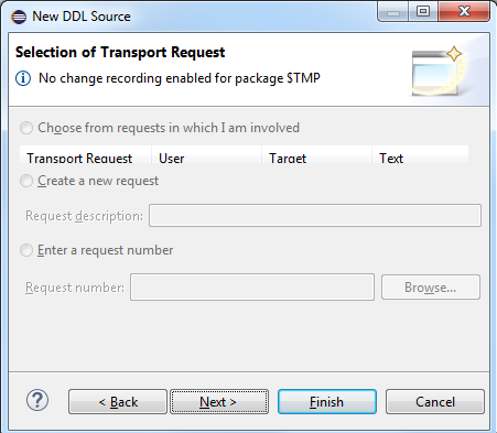 transport request for CDS view in SAP HANA Studio