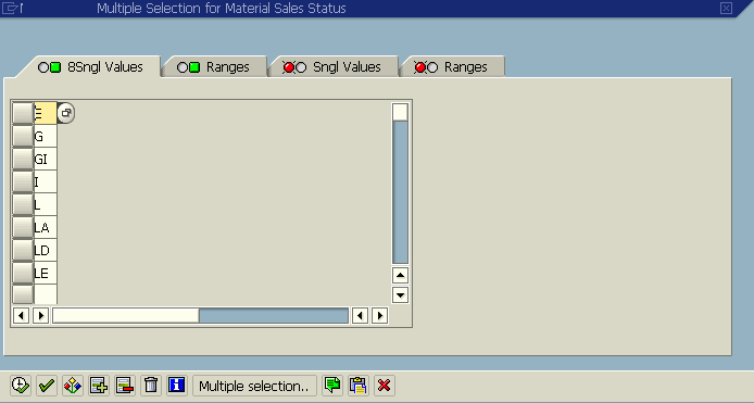 selection-screen-with-default-single-values-for-parameter