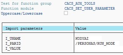 set SAP user parameter using ABAP function module
