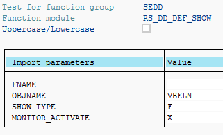 ABAP Data Dictionary object details