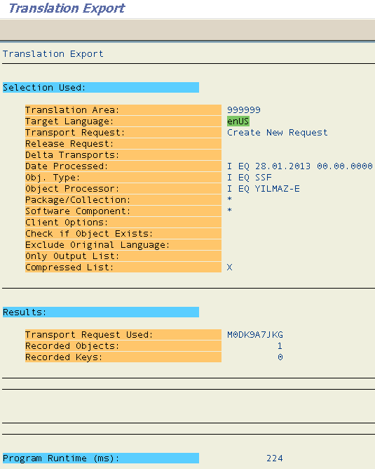 export Smartform translation into workbench request using SLXT ABAP report