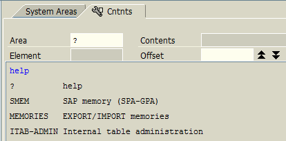 SMEM SAP memory Area for Parameter ID debugging