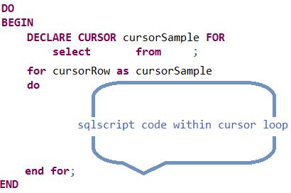 SQLScript cursor