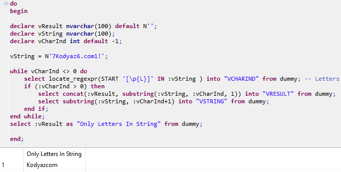 SQLScript Locate_SQLExpr function for letters in a string