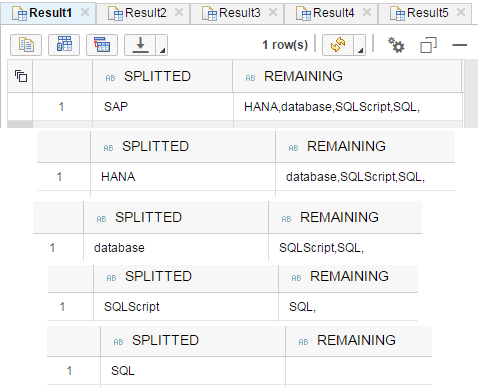 SQLScript split string using SubStr_Before and SubStr_After functions