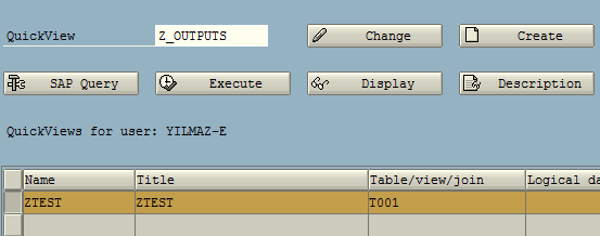 SAP SQVI QuickViewer SQL query tool for ABAP developer
