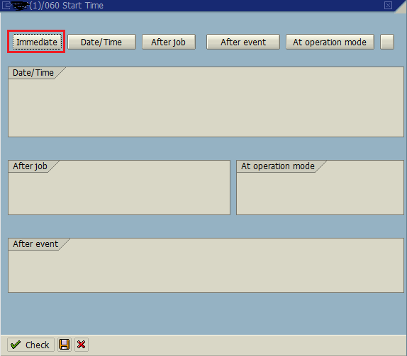 configure start time for ABAP report to execute in background