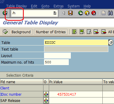 SE16N in debugging mode to update table data in ABAP