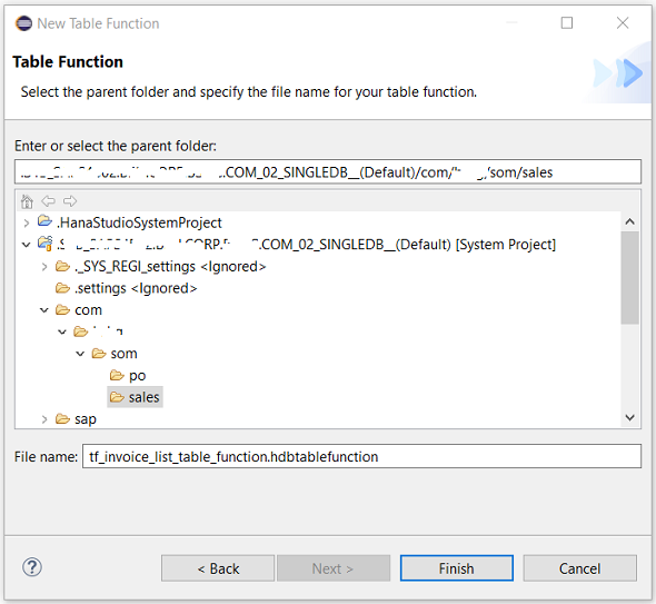 HANA database SQLScript table function on SAP HANA Studio