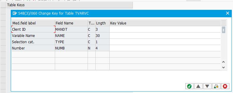 SAP table keys