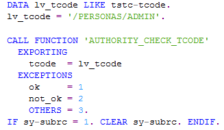 ABAP function module to check authorization for SAP transaction code