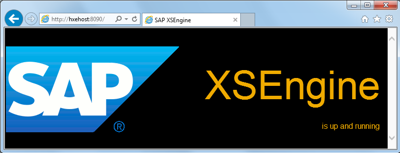 Test SAP HANA Express Edition XSEngine