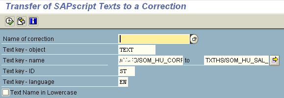 transfer SAPScript texts