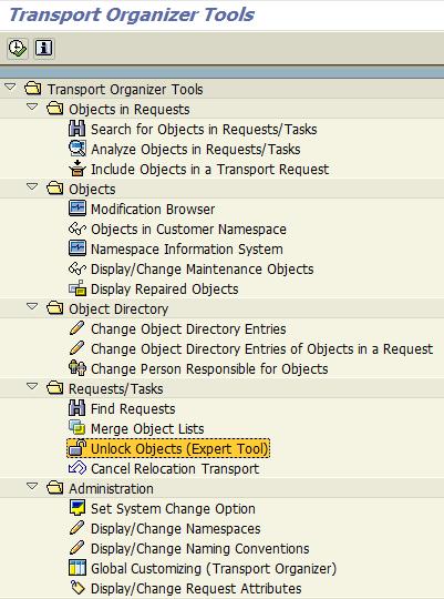 Unlock Objects Expert Tool
