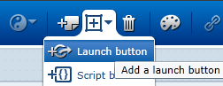add launch button on SAP Screen Personas flavor