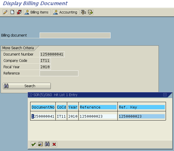 find invoice number from fi document number
