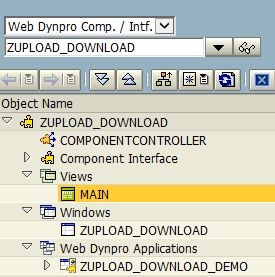 SAP web dynpro Main view