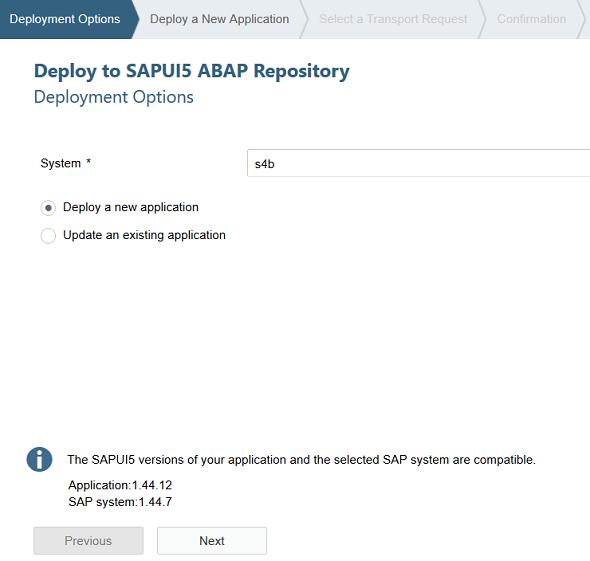 SAP Web IDE deployment options